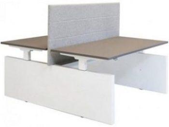 Project Elektrisch bureau Duo H-frame met zijwangen